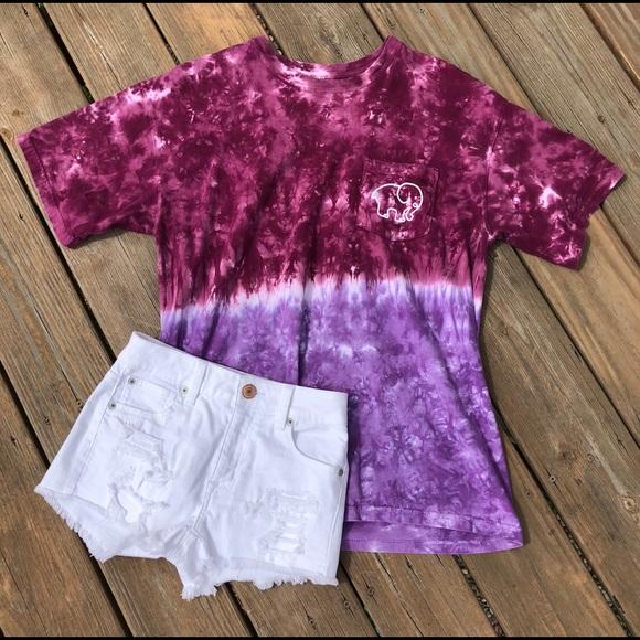 848370ec3ad2 ivory ella Tops - Purple Tie Dye Ombre Ivory Ella Tee